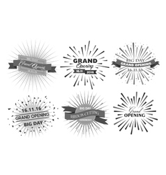 Grand opening design vector image vector image