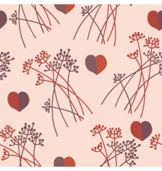grass hearts vector image