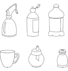 Kitchen elements icons vector image vector image