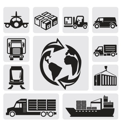 Logistic shipping vector image vector image