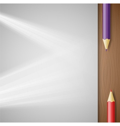 pencil and paper vector image