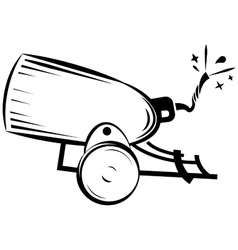 retro cannon vector image