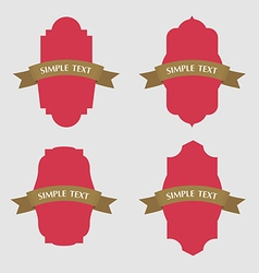Set of retro vintage ribbons badges and labels vector image