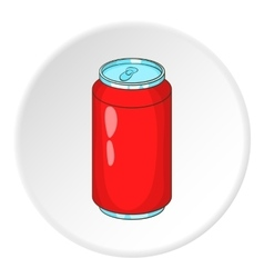 Soda can icon cartoon style vector image