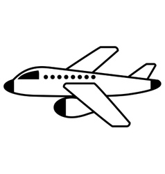 airplane fly isolated icon vector image vector image
