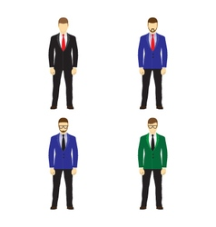Male figures avatars Business people icons vector image