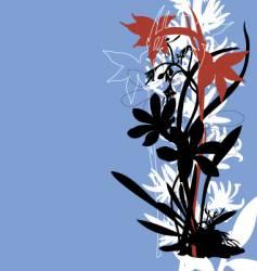 oriental tropical floral border vector image vector image
