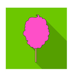 pink sweet cotton wool on a stick dessert for vector image