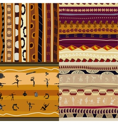 Set of seamless textures of African vector image