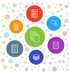 7 file icons vector image
