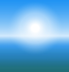 Abstract sunrise over the sea with copy space vector image