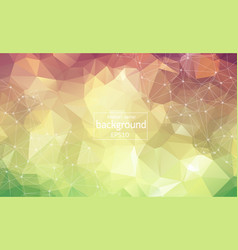 abstract vintage geometric polygonal background vector image