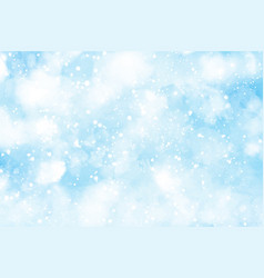 Abstract watercolor snow falling background for vector