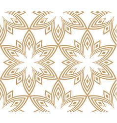 American symbol art linear flower sign pattern vector