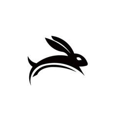 animal rabbit one line art logo design vector image