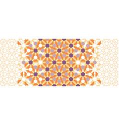 Arabesque seamless border geometric vector