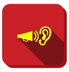 Audio Advertisement Longshadow Icon vector image