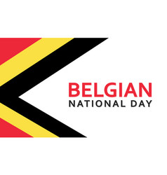 Belgium national day greeting card vector