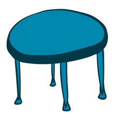blue round table on white background vector image