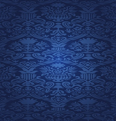 Blue Seamless abstract floral pattern background vector