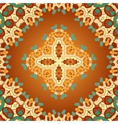 Brown and orange color seamles arabian print vector image