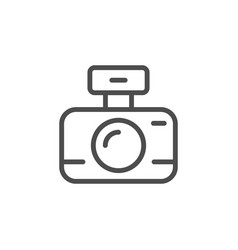 camera line icon and photography concept vector image