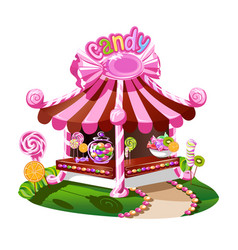 Candy shop with a cheerful decor vector