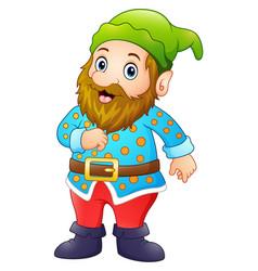 Cartoon happy gnome vector