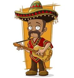 Cartoon mexican in sombrero vector