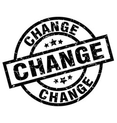 Change round grunge black stamp vector