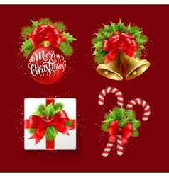 Christmas sign set vector image