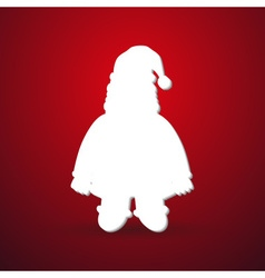 Christmas winter santa silhouette modern paper vector