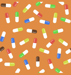 Colored pills seamless medical pattern vector
