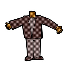 comic cartoon body in suit mix and match comic vector image