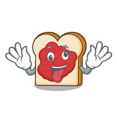 Crazy bread with jam mascot cartoon vector