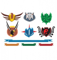 Crests and banners vector