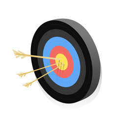 dartboards with arrows isometric vector image