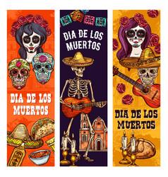 Dia de muertos mexican holiday calavera skull vector