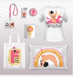 Feminism identity positive prints vector