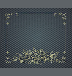 floral frame with copy space vector image