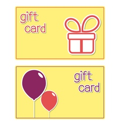 Gift card templates vector