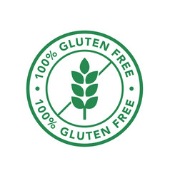 gluten free icon product labels vector image