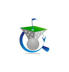 golf game never end vector image