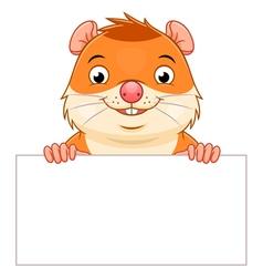 Hamster banner vector