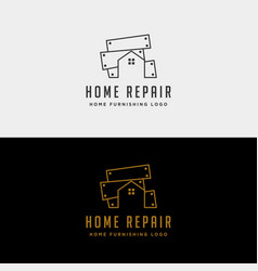home repair logo design icon isolated vector image