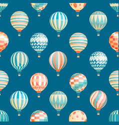 hot air balloons seamless pattern flying vector image