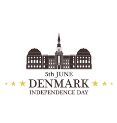 Independence Day Denmark vector image