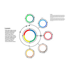 Infographic template circle design with arrows vector