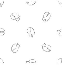 innovation thinking pattern seamless vector image