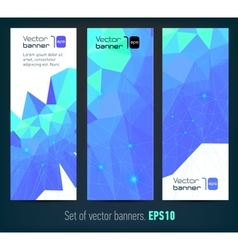 Internet banners set with polygonal abstract back vector image